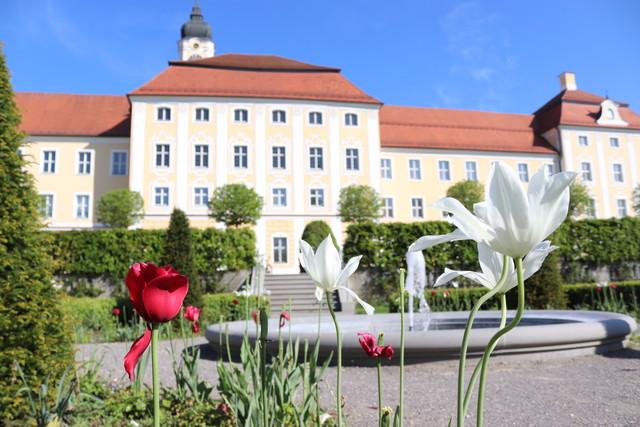 Klostergarten des Klosters Roggenburg