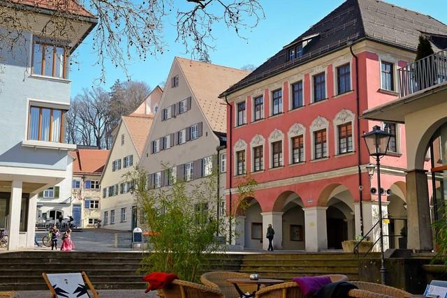 Rathaus mit Gänsbühl in Leutkirch im Allgäu