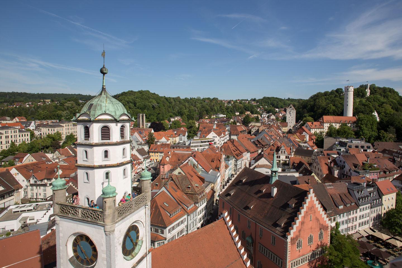 Ansicht von oben der Stadt Ravensburg