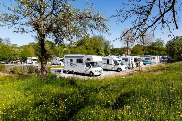 Reisemobilstellplatz bei der Waldsee-Therme