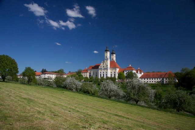 Luftansicht Kloster Roggenburg