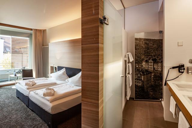 Hotelzimmer im Parkhotel Jordanbad