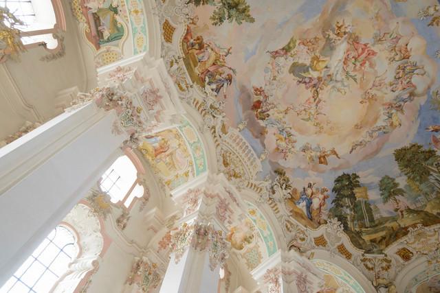 Deckenfresko der Wallfahrtskirche in Steinhausen