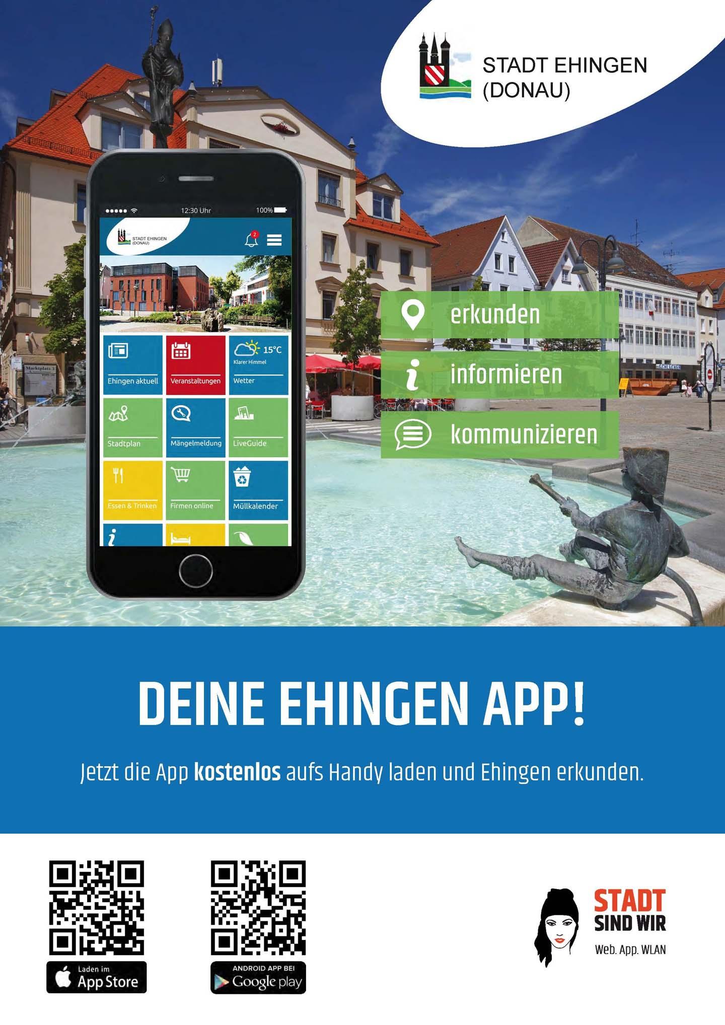 Ehingen App Plakat