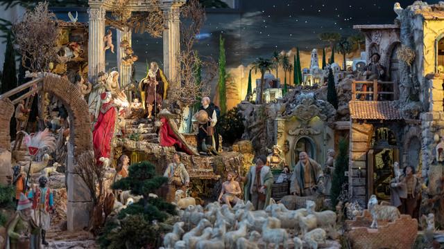 Weihnachtskrippe in der Basilika Birnau