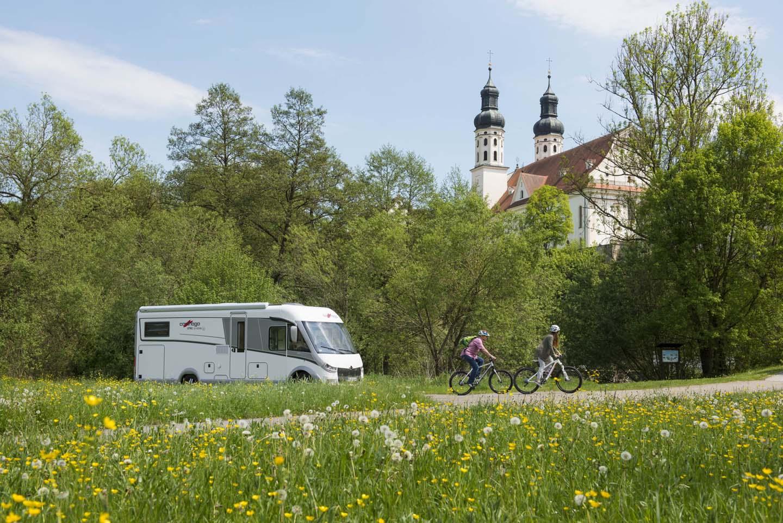 Oberschwaben-Allgäu: Radfahren und Reisemobil in Kombination