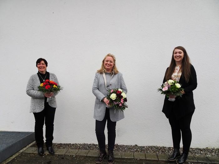 Das Bild zeigt von links nach rechts: Petra Misch, Daniela Leipelt, Sarah Falk © Oberschwaben Tourismus GmbH