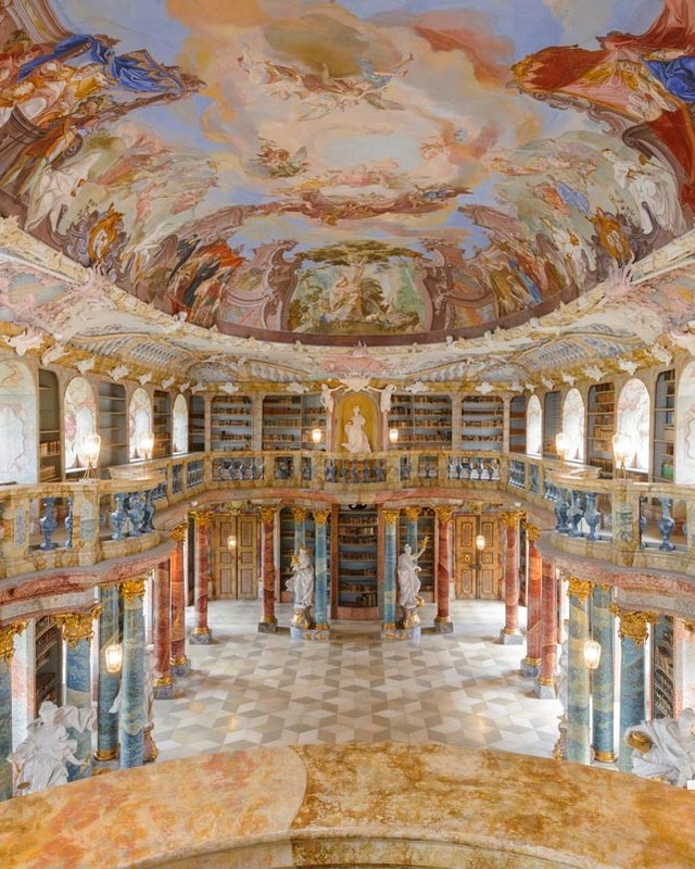 Bibliothekssaal Kloster Wiblingen